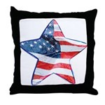 American Flag - Star Throw Pillow