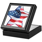 American Flag - Star Keepsake Box
