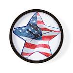 American Flag - Star Wall Clock