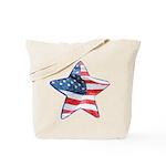 American Flag - Star Tote Bag