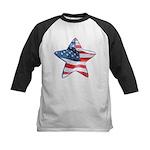 American Flag - Star Kids Baseball Jersey