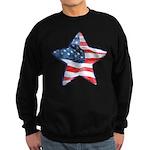 American Flag - Star Sweatshirt (dark)