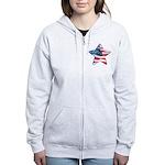 American Flag - Star Women's Zip Hoodie