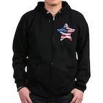 American Flag - Star Zip Hoodie (dark)