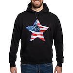 American Flag - Star Hoodie (dark)