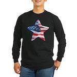American Flag - Star Long Sleeve Dark T-Shirt