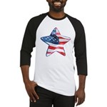 American Flag - Star Baseball Jersey