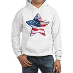 American Flag - Star Hooded Sweatshirt