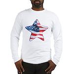 American Flag - Star Long Sleeve T-Shirt