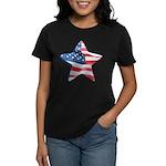 American Flag - Star Women's Dark T-Shirt