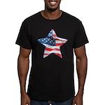 American Flag - Star Men's Fitted T-Shirt (dark)