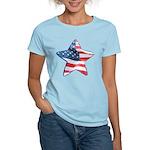 American Flag - Star Women's Light T-Shirt