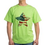 American Flag - Star Green T-Shirt