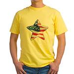 American Flag - Star Yellow T-Shirt