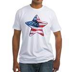 American Flag - Star Fitted T-Shirt