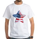 American Flag - Star White T-Shirt