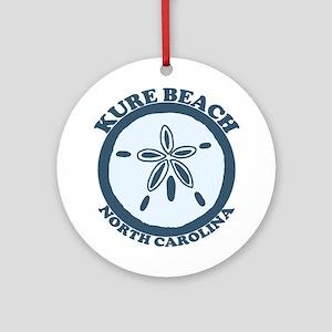 Kure Beach NC - Sand Dollar Design Ornament (Round