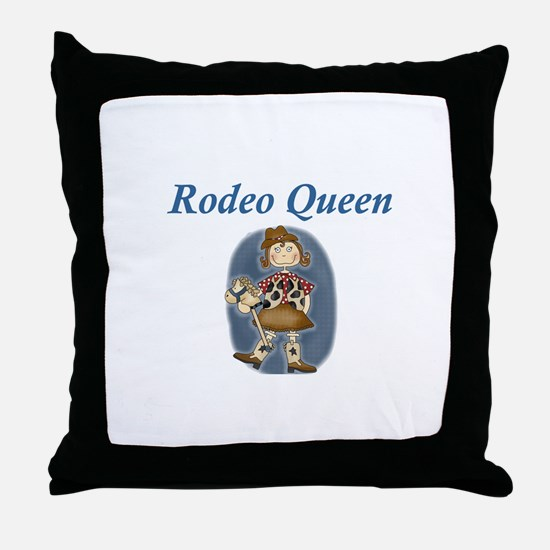 RODEO QUEEN Throw Pillow