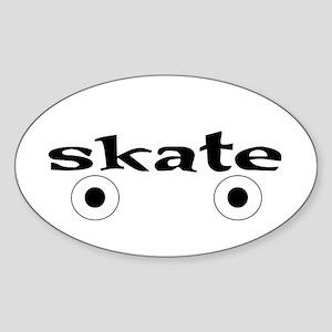 Roller Skate Oval Sticker