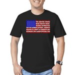 Preamble Flag Men's Fitted T-Shirt (dark)