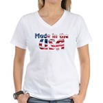 Made in the USA Women's V-Neck T-Shirt