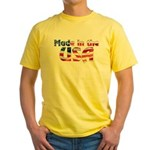 Made in the USA Yellow T-Shirt