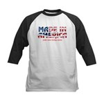 Made In America (with some fo Kids Baseball Jersey