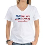 Made In America (with some fo Women's V-Neck T-Shi