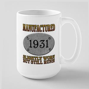Manufactured 1931 Large Mug
