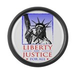 Liberty & Justice For All Large Wall Clock