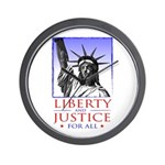 Liberty & Justice For All Wall Clock