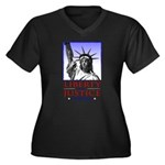 Liberty & Justice For All Women's Plus Size V-Neck