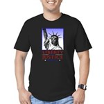 Liberty & Justice For All Men's Fitted T-Shirt (da