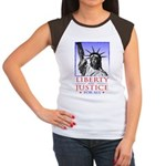 Liberty & Justice For All Women's Cap Sleeve T-Shi