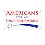 Idiot Free America Banner
