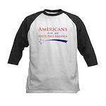 Idiot Free America Kids Baseball Jersey