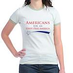 Idiot Free America Jr. Ringer T-Shirt