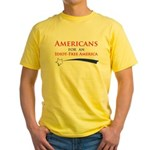 Idiot Free America Yellow T-Shirt