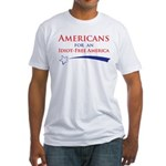 Idiot Free America Fitted T-Shirt
