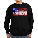 Declaration as a Flag Sweatshirt (dark)