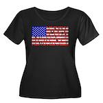 Declaration as a Flag Women's Plus Size Scoop Neck