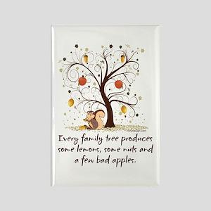 Family Tree Humor Rectangle Magnet
