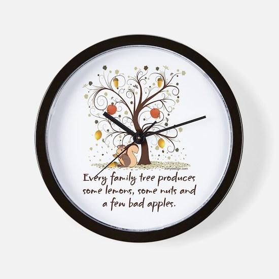 Family Tree Humor Wall Clock