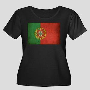 Vintage Portugal Flag Women's Plus Size Scoop Neck