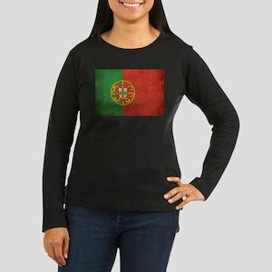 Vintage Portugal Flag Women's Long Sleeve Dark T-S