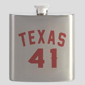 Texas 41 Birthday Designs Flask