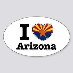 I love Arizona Sticker (Oval)