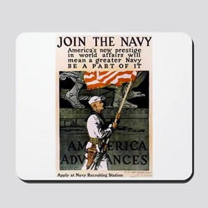 Join the Navy - Be Part of It Mousepad