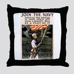 Join the Navy - Be Part of It Throw Pillow