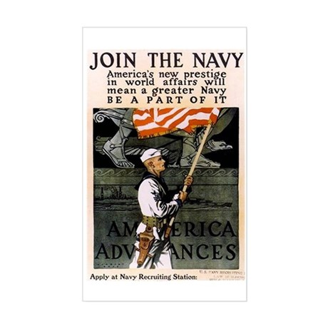 Join the Navy - Be Part of It Sticker (Rectangle)